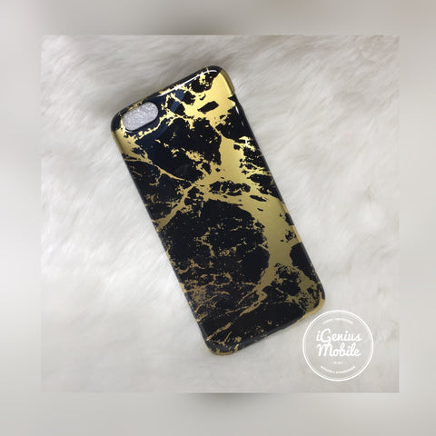 SALE - Black/Gold Marble Case