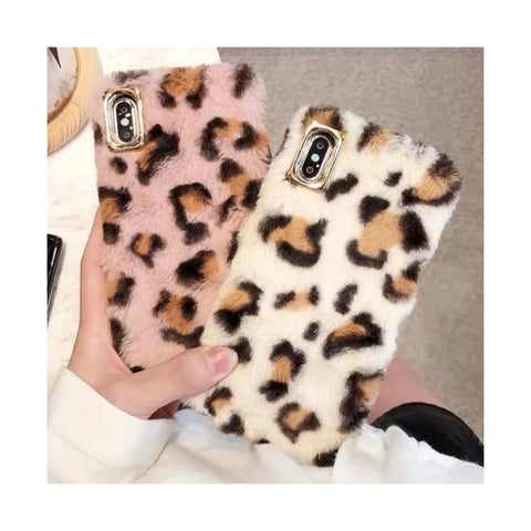 Signature Leopard Fur Case
