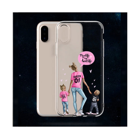 Mom Life Transparent Case
