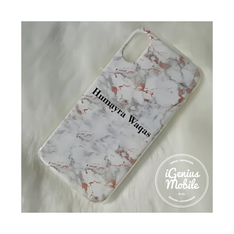Rose Gold Marble Name Personalised Case