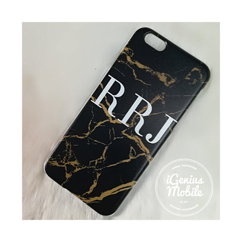 Personalised Gold/Black Marble Design