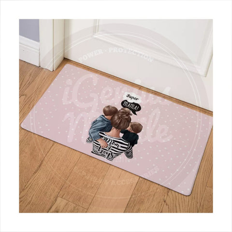 NEW! Floor mat - Super Mama - Mom of Boys