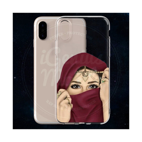 NEW! Hijabi Bling Transparent Gel Case
