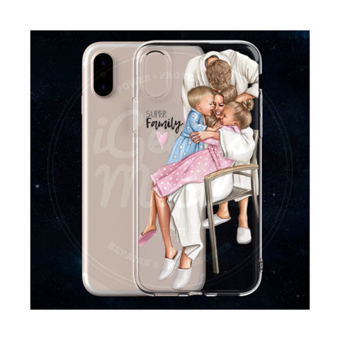 Super Family Transparent Gel Case