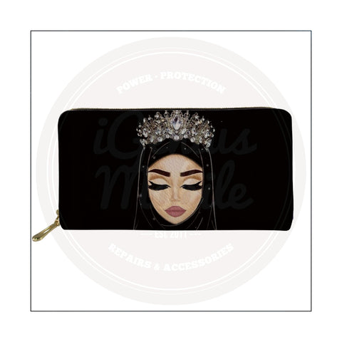 NEW! Fair Hijabi Silver Crown Wallet