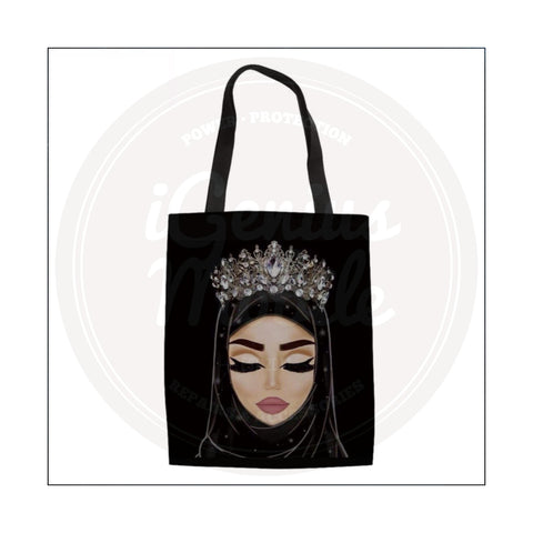 NEW! Fair Hijabi Silver Crown Tote Bag