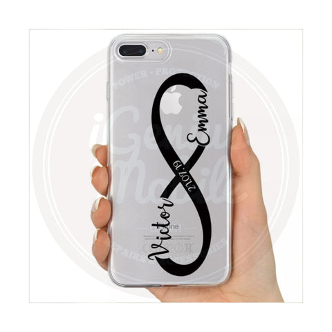 Infinity Personalised Clear Case (Black)
