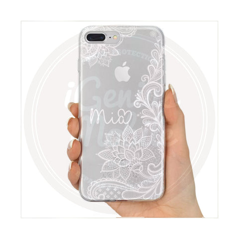 Henna Lace Case Personalised (white)