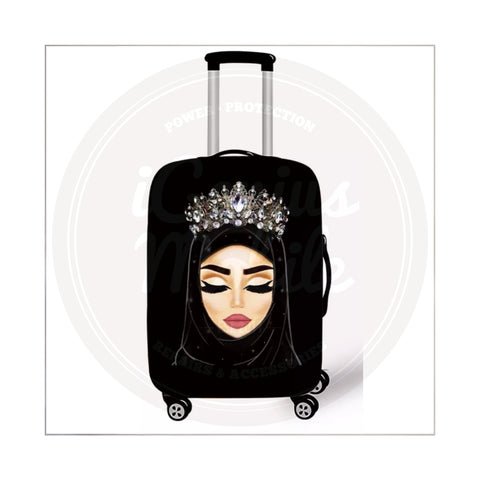 NEW! Suitcase Cover - Silver Crown Hijabi