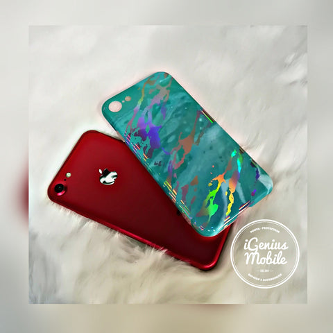 SALE - Turquoise Holo Marble Case