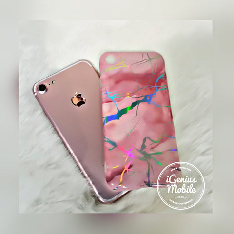 SALE - Pink Holo Marble Case