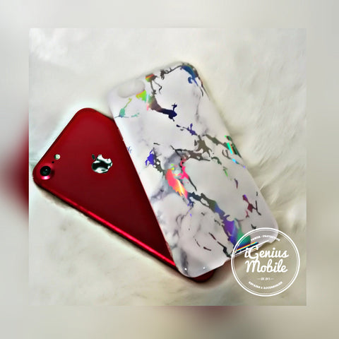 SALE - White Holo Marble Case