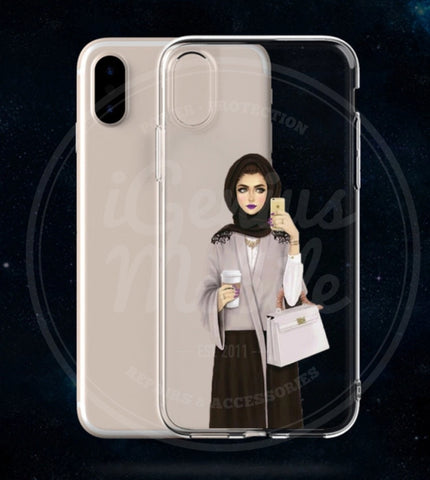 NEW! Selfie Sister HijabTransparent Gel Case