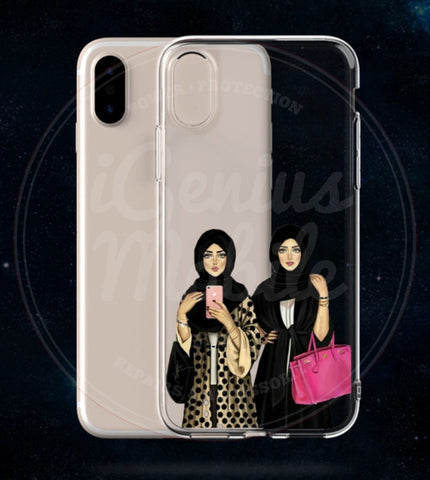 NEW! Hijabi Fashion Sisters Transparent Gel Case