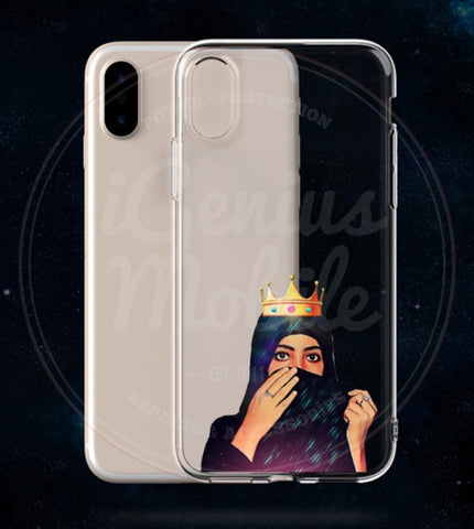 NEW! Gold Crown Hijabi Transparent Gel Case