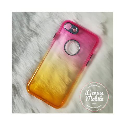 SALE - Back Ombré Case (Silicone, Pink & Yellow)