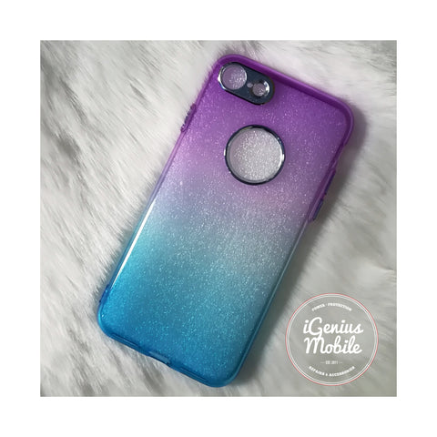 SALE - Back Ombré Case (Silicone, Purple & Blue)