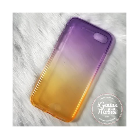 SALE - Shockproof Ombré Case (Silicone, Purple & Yellow)