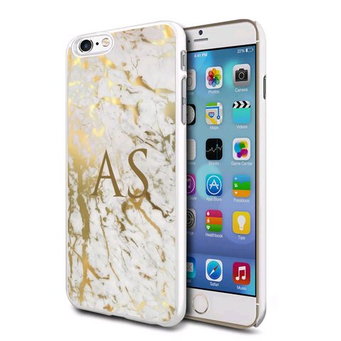 Gold Marble Personalised Case