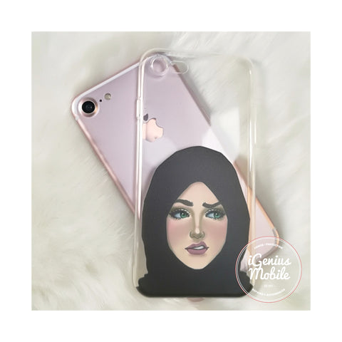 NEW! Modest Muslima Hijab Transparent Gel Case