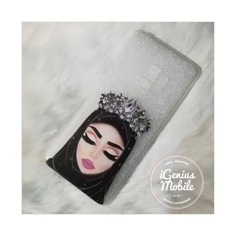 NEW! Silver Crown Hijabi Transparent Gel Case