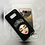 Fair Hijabi Silver Crown Case