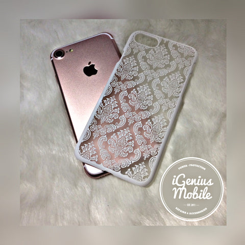 SALE - White Damask Case