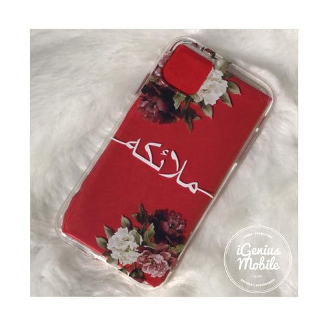 Floral Arabic Personalised Clear Case (WHITE)