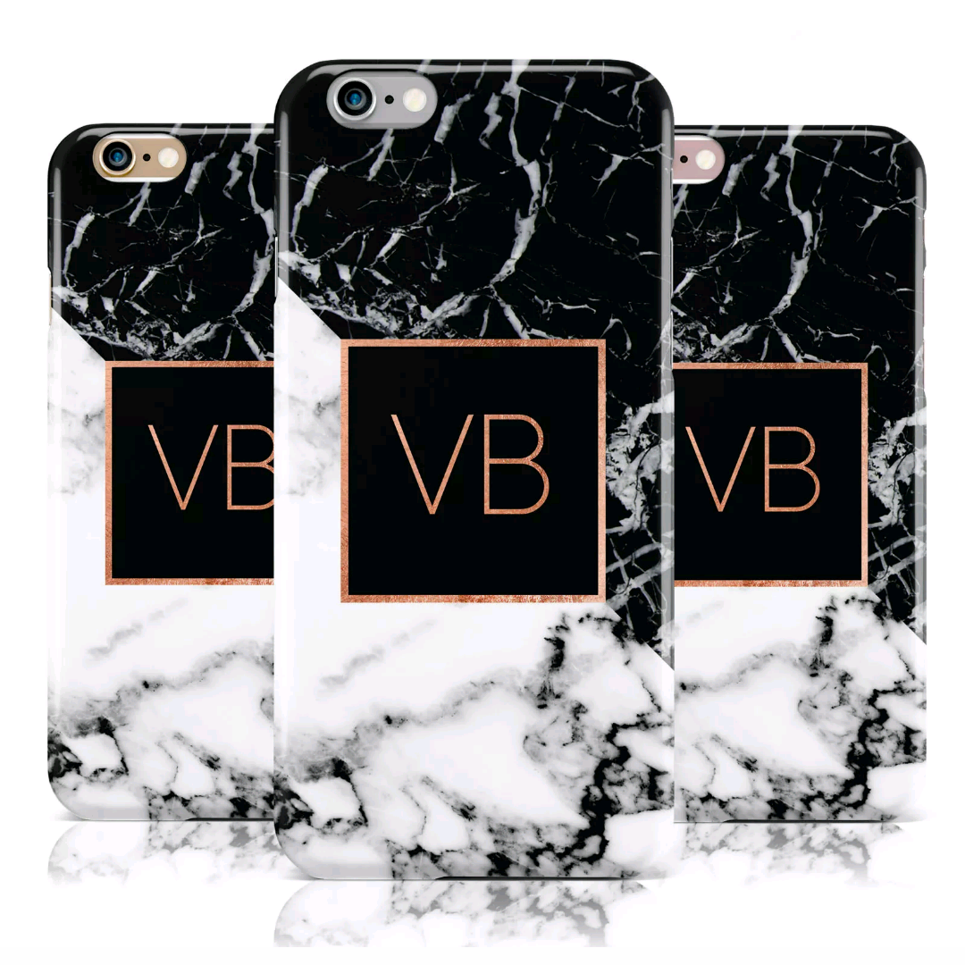 Personalised Purple Marble with White Font Initial Phone