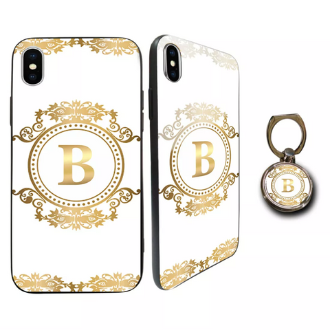Premium Glass Gold Personalised Case