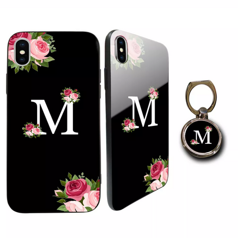 Premium Glass Marble Flower Personalised Case