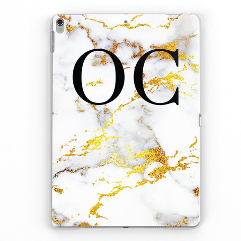 iPad Personalised Marble Case (Gold)