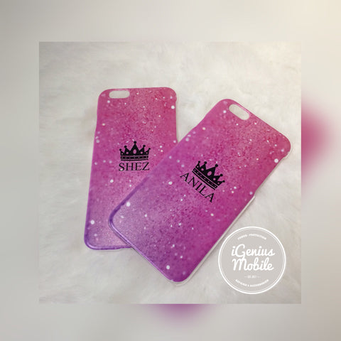 Pink Crown Personalised Case