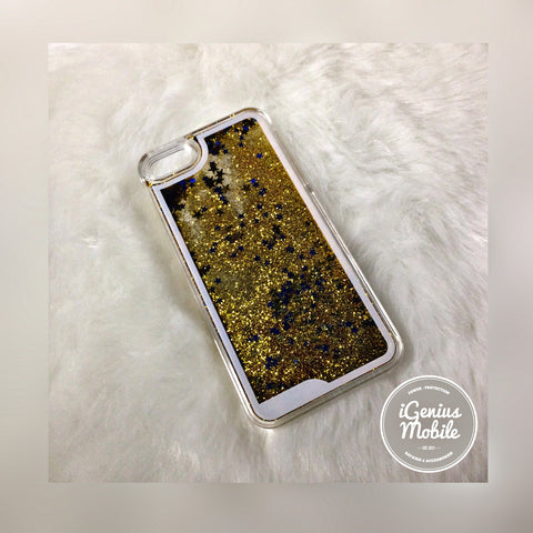 Glitter Fall Liquid Case Yellow/Gold