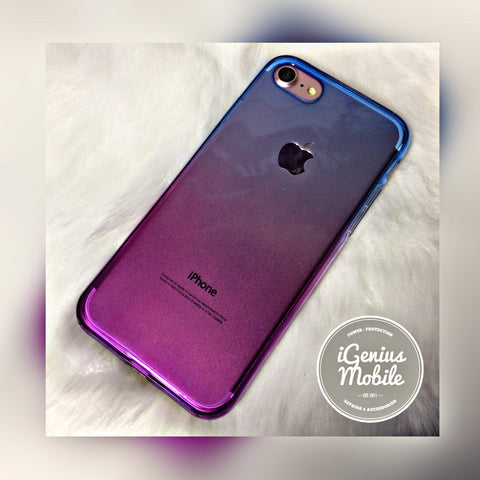 Shockproof Ombré Case (Silicone, Purple & Blue)
