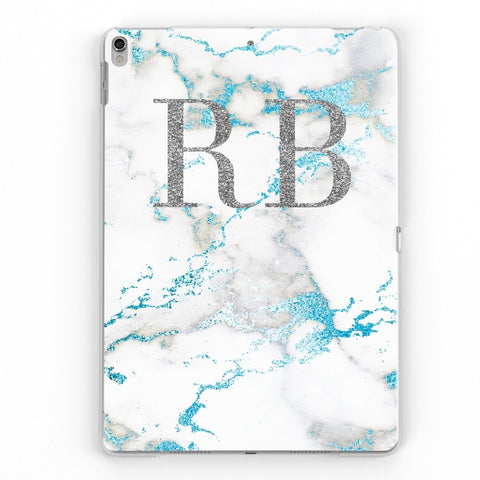 iPad Personalised Marble Case (Blue)