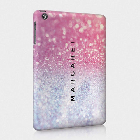 Personalised iPad Case Pink & Purple Glitter Effect