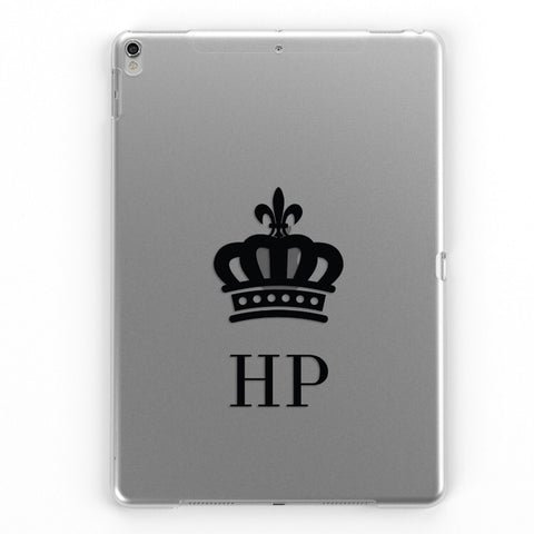 iPad Personalised Clear Crown Case (Black)