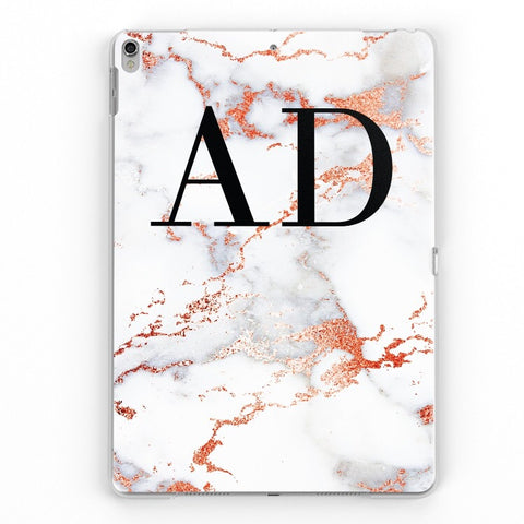 iPad Personalised Marble Case (Rose Gold)