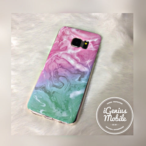 Marble Case Pink Sea