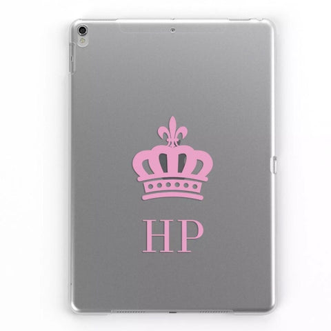 iPad Personalised Clear Crown Case (Pink)