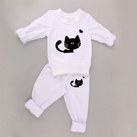 Gourd 2017 T-shirt+pants 2pcs/suit outfits newborn baby boy girl clothes - armazonee.com