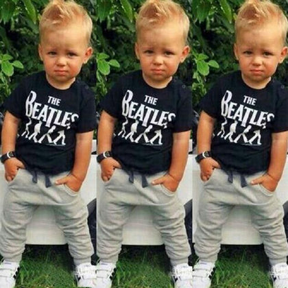 Summer Kids Clothes Set T-shirt Pants Suit Clothing Set Newborn Children Baby Clothes - armazonee.com
