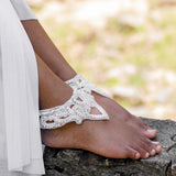 Beach wedding Hindu bridal foot jewelry ankle cuffs
