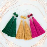 Color choice of the long tassel autum earrings