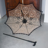 Elegant walking cane umbrella for people with walking disabilities