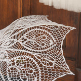 Crochet lace bridal wedding umbrella
