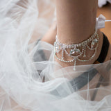Dangling crystal foot jewelry ankle bracelets