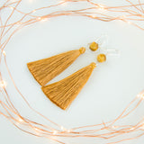 Christmas Gift for Women Mustard Earrings