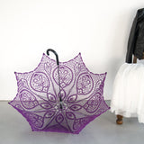 Ultra violet lace wedding parasol for a goth girl